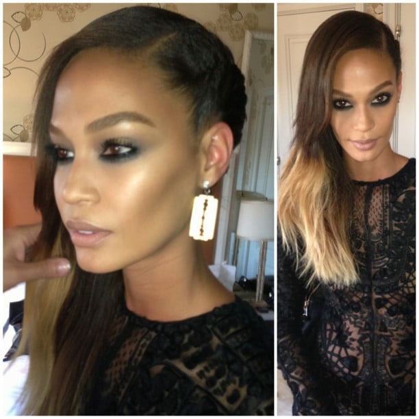 Joan Smalls showed off her faux-undercut and a sexy smoky eye before the Gala was under way. And check out those razor blade earrings! Source: Instagram user sjblife
