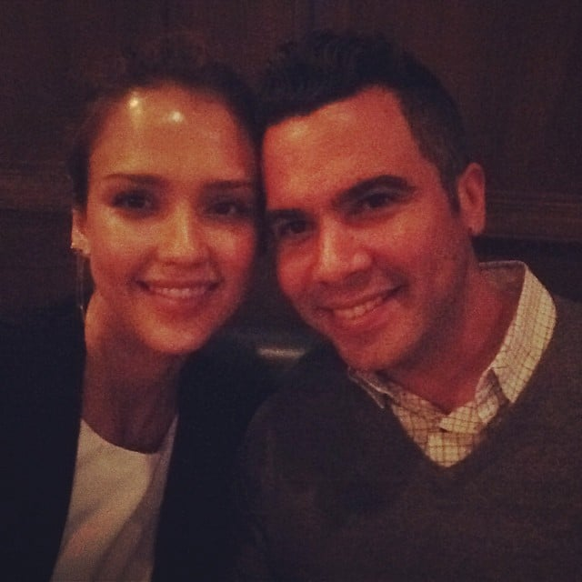 """I've officially spent a decade of my life w this hottie -love of my life @cash_warren u make me so happy #bday #dinner,"" Jessica Alba captioned this photo of her and husband Cash Warren. Source: Instagram user jessicaalba"