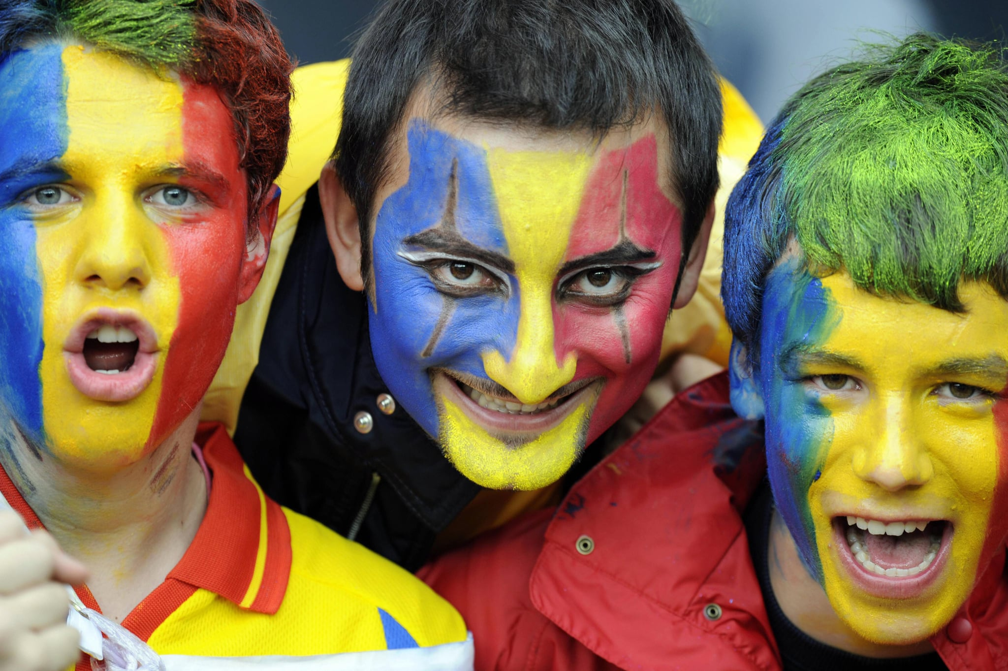Soccer fans in Romania. The country improved from 69th place to 84th.