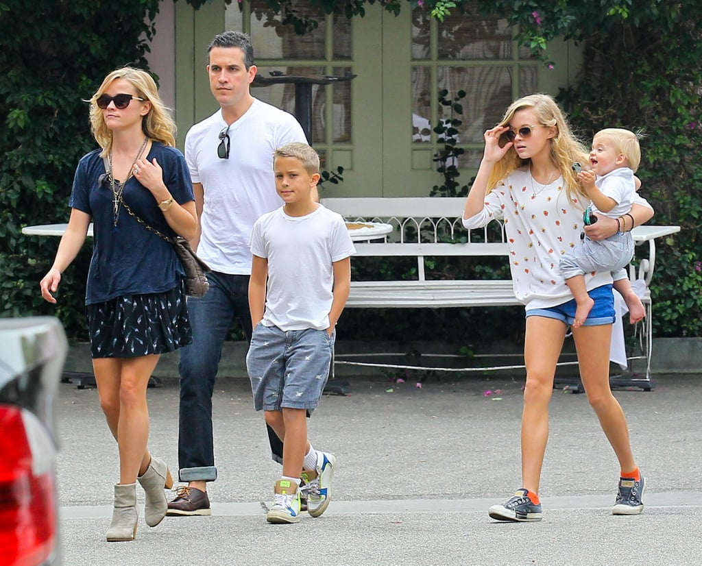 Reese Witherspoon Breaks From Filming With a Beachfront Family Lunch