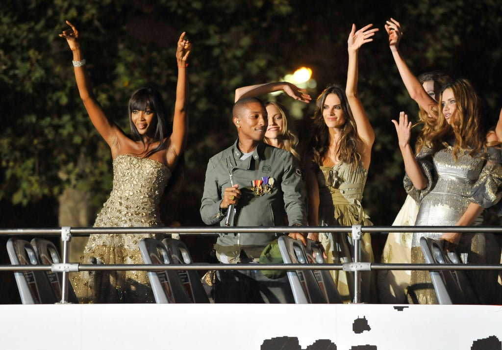 It was a rooftop bus party for Naomi Campbell, Pharrell Williams, Alessandra Ambrosio, and more during the FNO kickoff event in 2010.