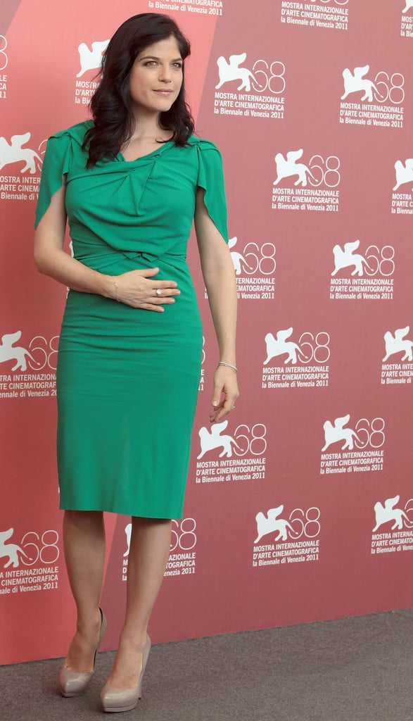 Selma Blair in green.