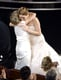 Jennifer Lawrence got a hug from her mom, Karen Lawrence, after winning best actress.