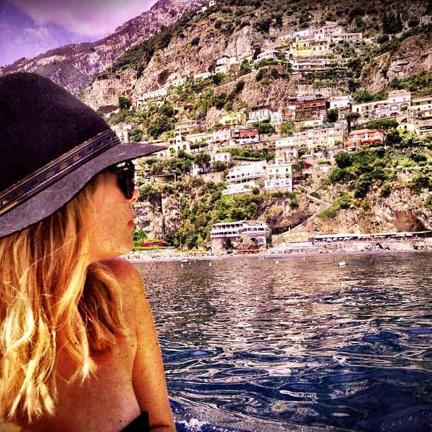 Ashley Benson enjoyed the view while logging some bikini time during her vacation in Italy. Source: Instagram user itsashbenzo