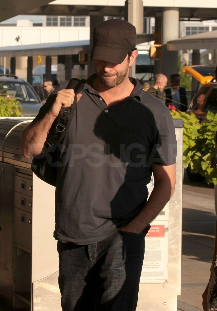 David Schwimmer kept a low profile heading into the terminal.