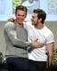 And here's a bonus shot of Aaron Taylor-Johnson and Chris Evans congratulating each other.