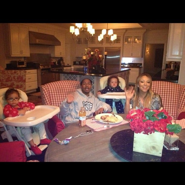 Mariah Carey shared a snap of her family while wishing Nick Cannon a Happy Father's Day. Source: Instagram user mariahcarey