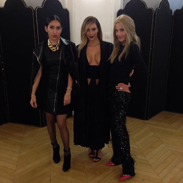 Kim Kardashian took her cousin to Givenchy's show in Paris. Source: Instagram user kimkardashian