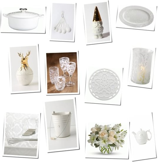 Winter White Kitchen Decor