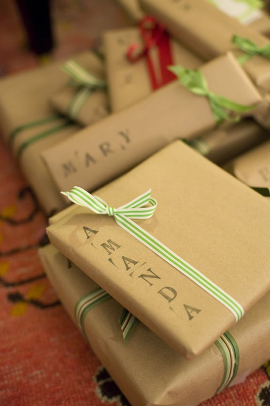 Simply Stamped Gift Wrap