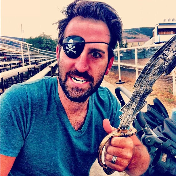 Josh Kelley dressed up as a pirate. Source: Instagram user joshbkelley