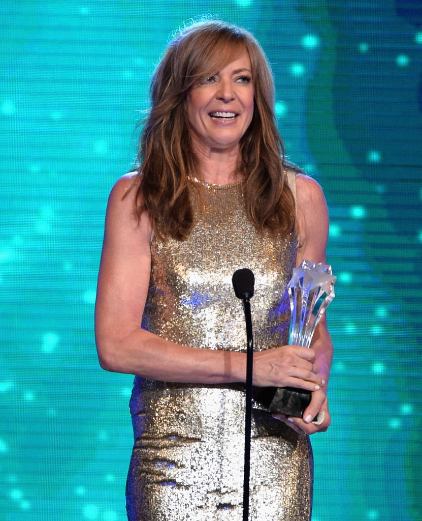 Allison Janney accepted the award for best guest actress in a drama.