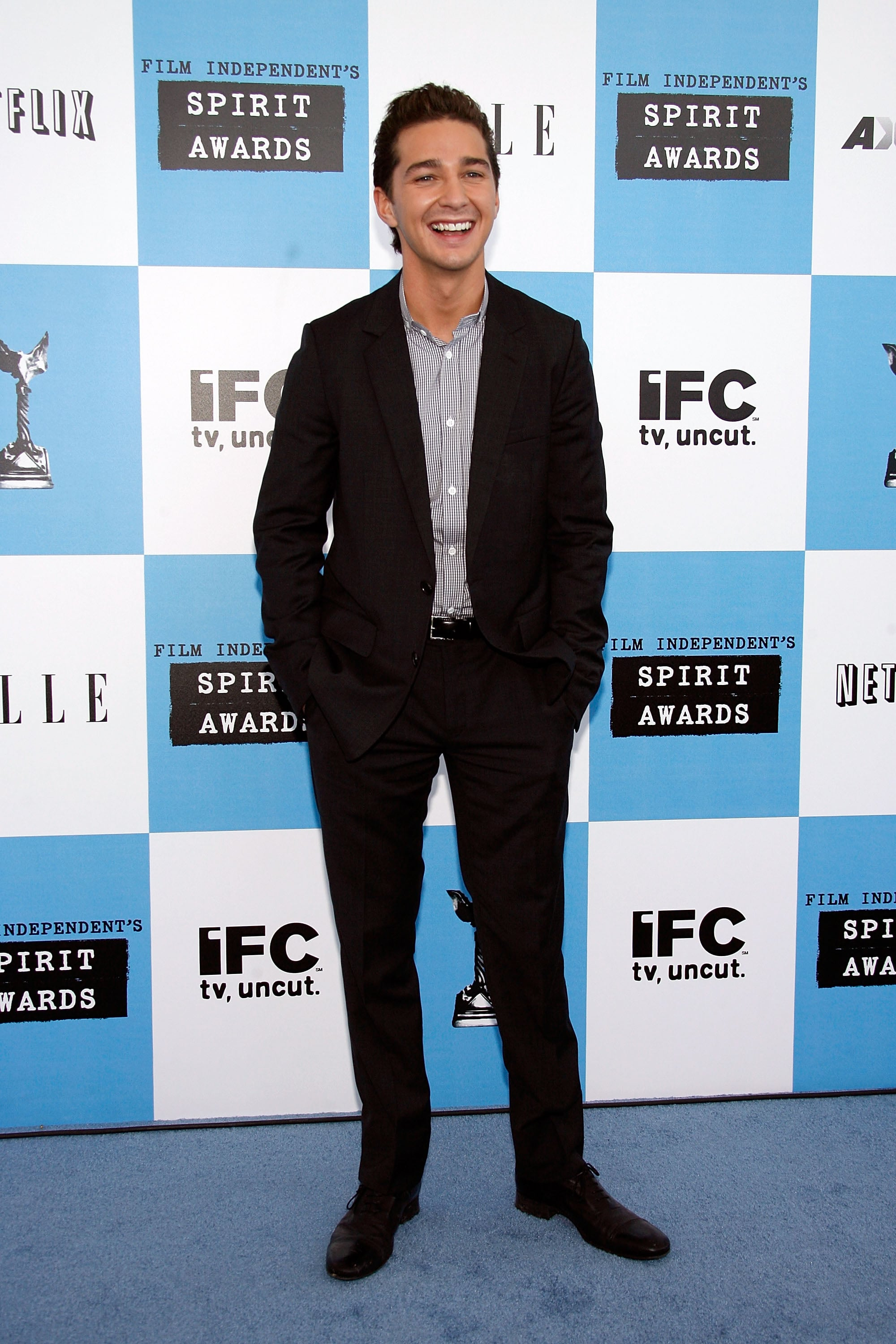 He let out a laugh while arriving at the Independent Spirit Awards in February 2007.