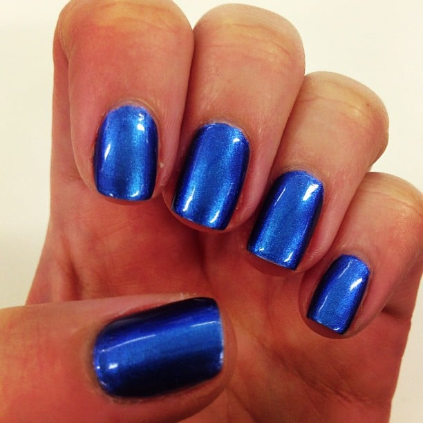 On the nails this week? Chanel Le Vernis in Bel-Argus. It's a bit of an old faithful for our beauty editor Alison.
