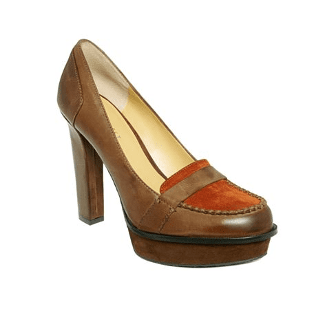 The rust hues and cool colorblocking give this pair a retro '70s feel.   Nine West Unmixed Loafer Pumps ($109)