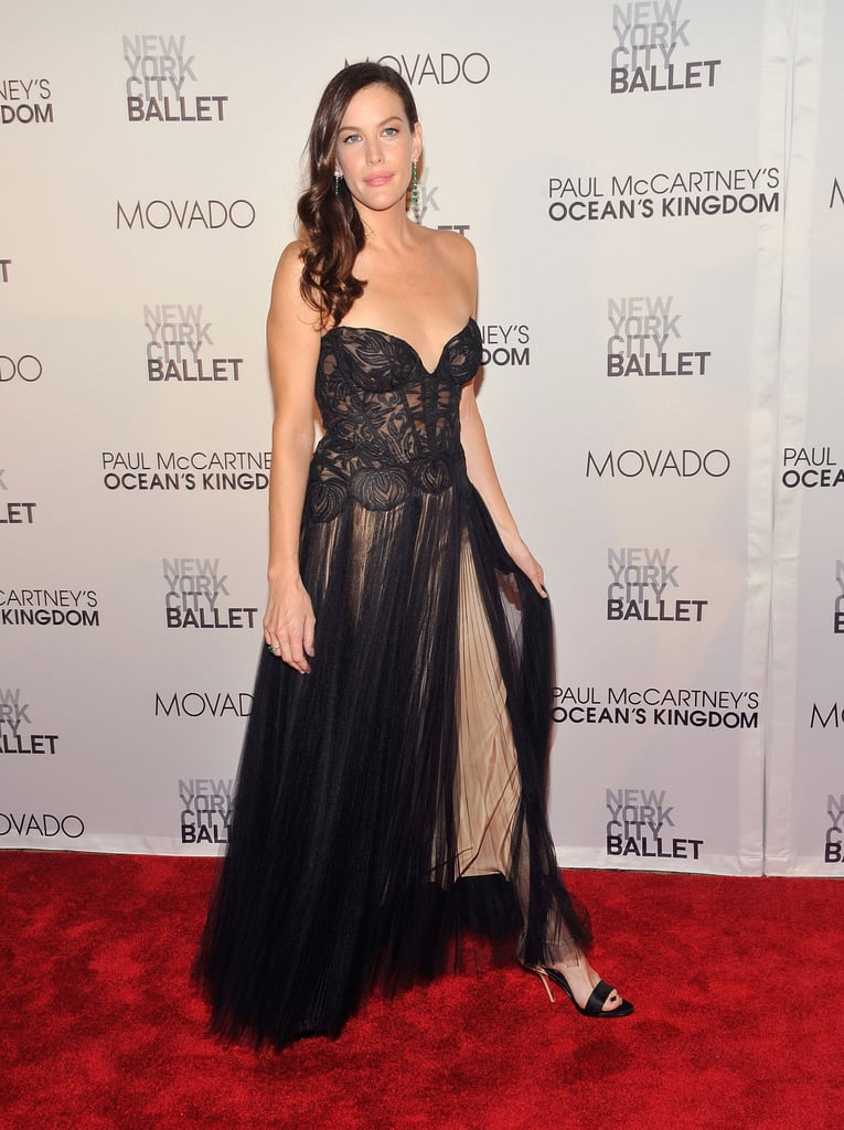 Liv Tyler at the NYC ballet for the opening of Ocean's Kingdom.