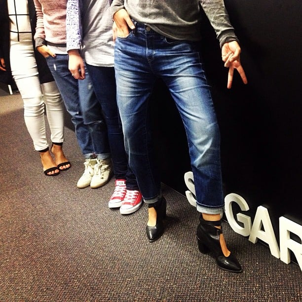 It's Jeans for Genes day, can you tell? We don't do themes by halves at POPSUGAR.