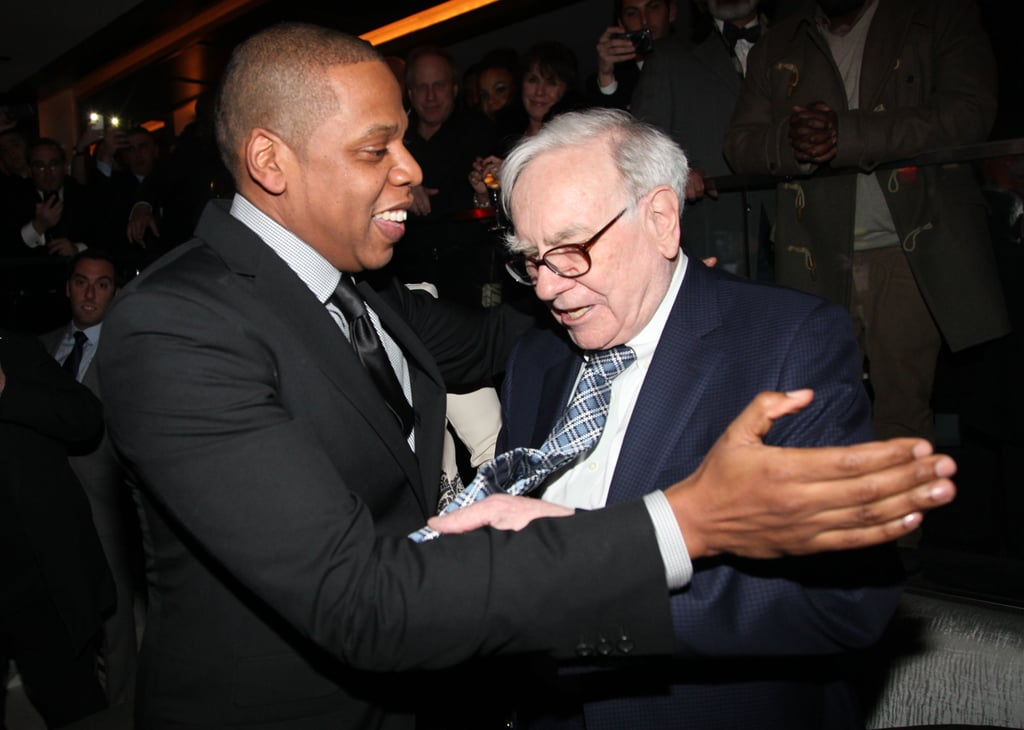 Jay-Z and Warren Buffett hung out at 40/40 in NYC.