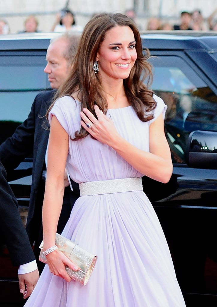 Kate Middleton in a lilac Alexander McQueen in LA.