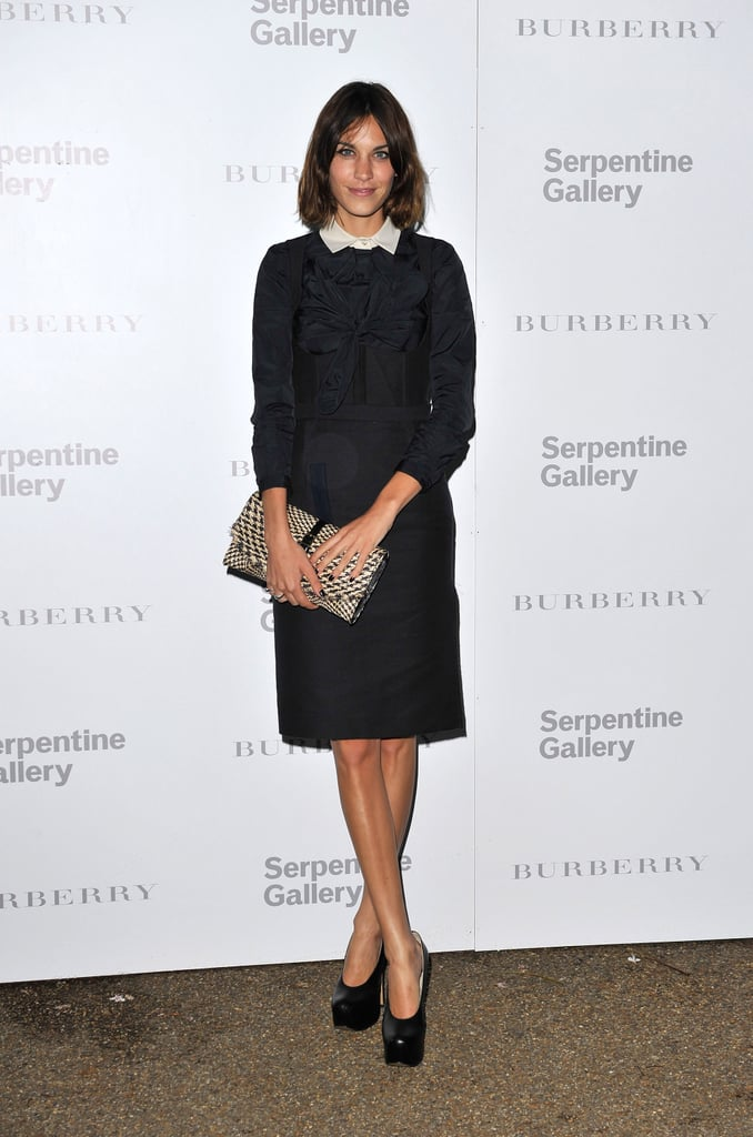Working a white collared number  at Burberry's Serpentine Summer party in July, this Carven dress was  classic Alexa.