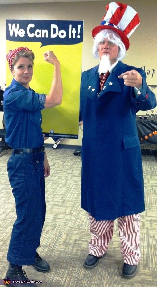 Rosie the Riveter and Uncle Sam