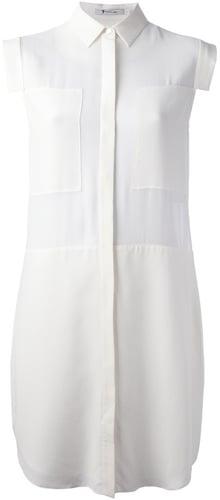 T By Alexander Wang semi-sheer blouse dress