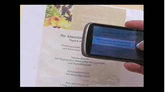 Google Demonstrates New Google Goggles Translation Feature at Mobile World Congress