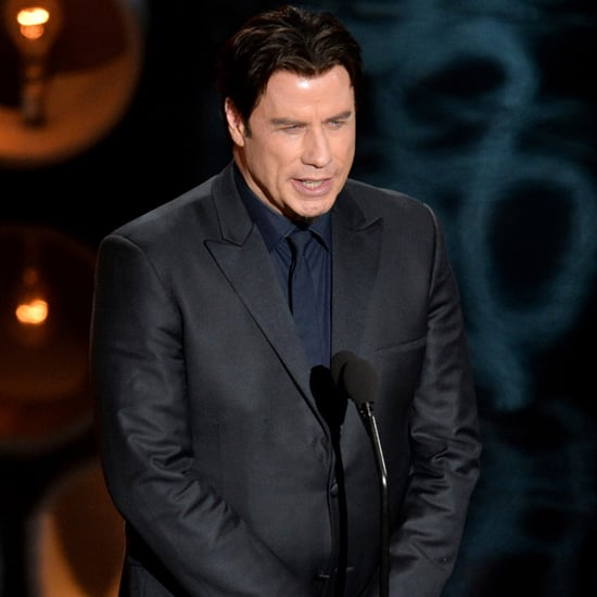 John Travolta Introducing Idina Menzel at the Oscars 2014