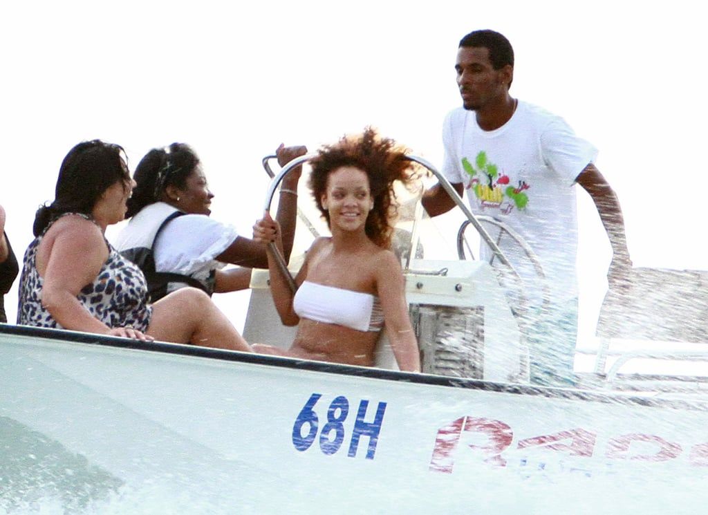 Rihanna let loose with friends during an August 2011 trip to Barbados.