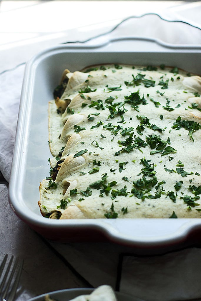 Spinach and Chicken Enchiladas