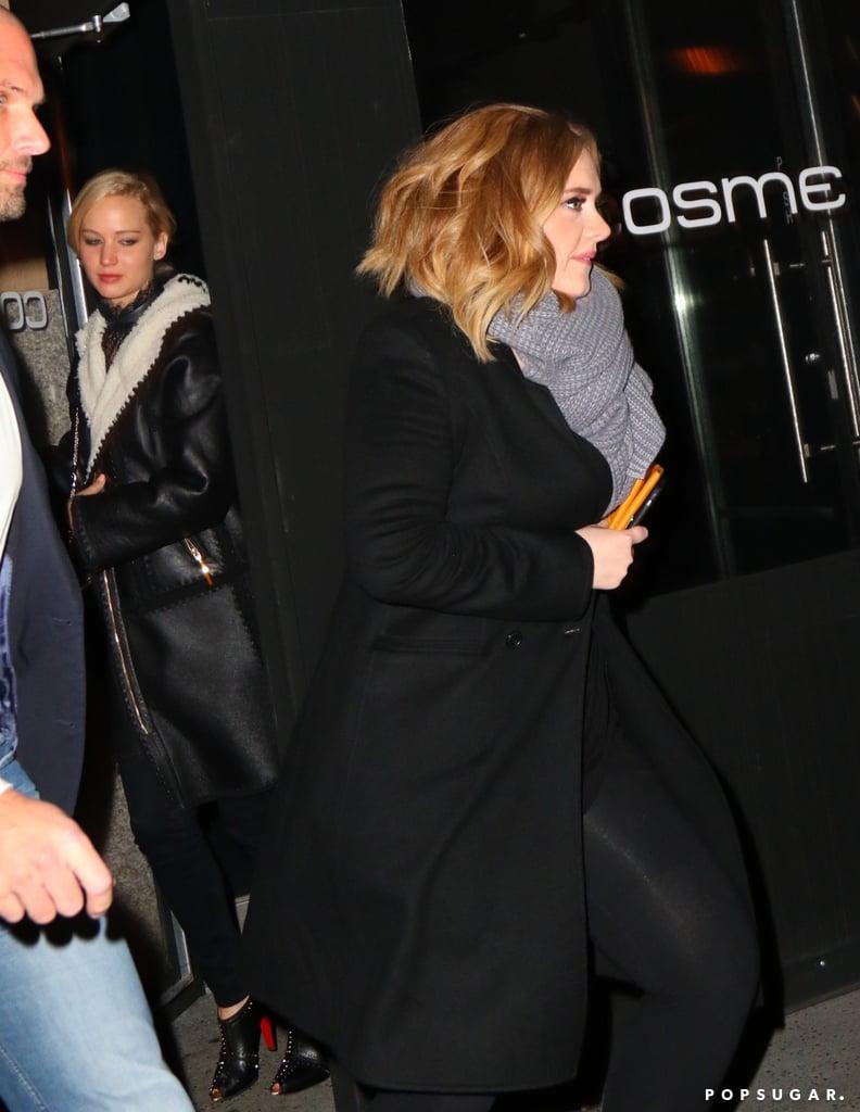 Jennifer Lawrence and Adele