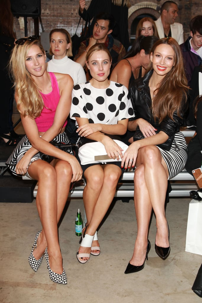 Nikki Phillips, Casey Burgess and Ricki-Lee Coulter at MBFWA Day Two