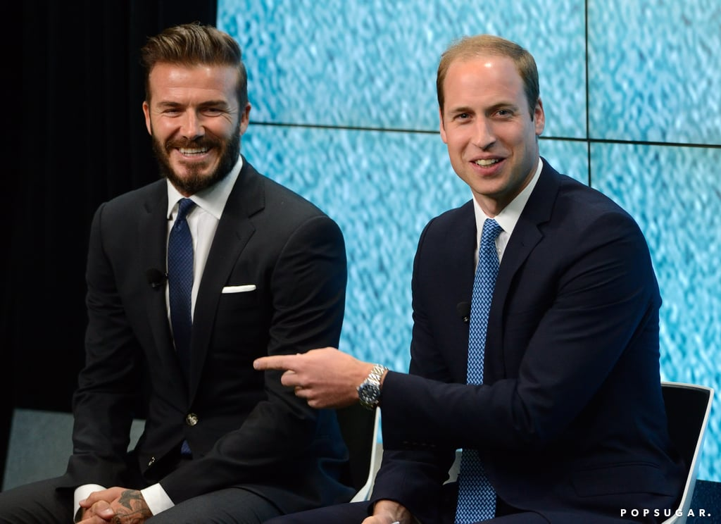 David Beckham and Prince William spoke at United For Wildlife's London launch of the #WhoseSideAreYouOn campaign on Monday.
