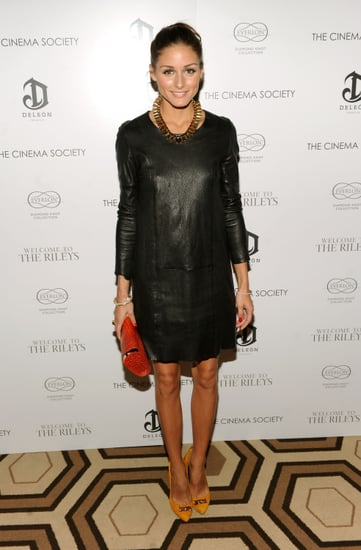 Olivia Palermo wears leather at The Welcome To The Riley's Screening in NYC