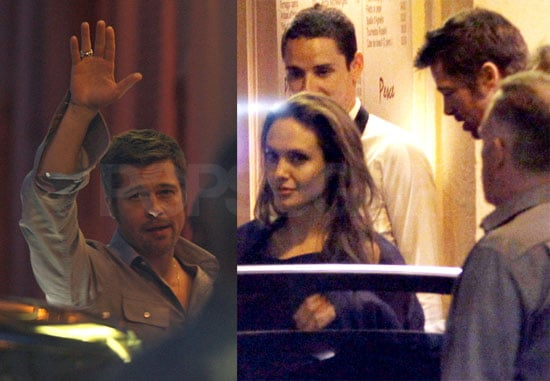 Photos of Brad Pitt and Angelina Jolie Leaving Dinner At 2009 Cannes Film Festival