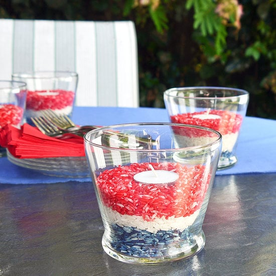 Dyed-Rice Candleholders