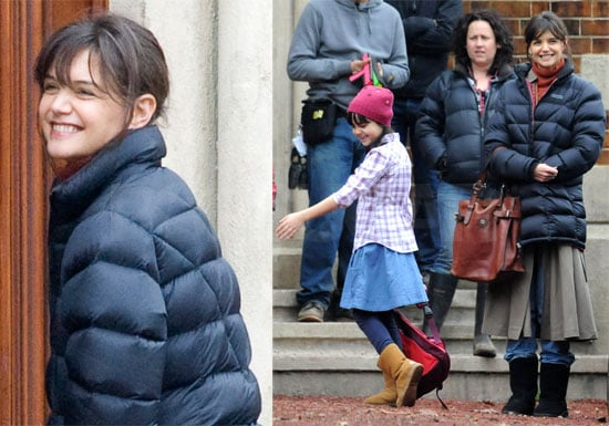 Photos of Katie Holmes and Guy Pearce Filming Don't Be Afraid of the Dark in Melbourne