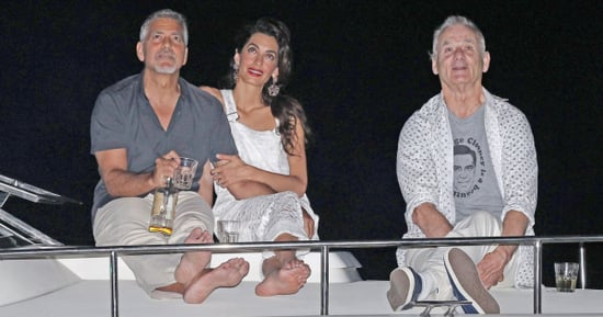 Bill Murray Third-Wheels With George and Amal While Wearing a 'George Clooney Is a Beautiful Man' T-Shirt