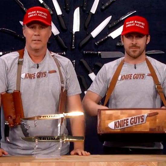 "Ryan Gosling and Will Ferrell ""Knife Guys"" Skit 2016 | Video"