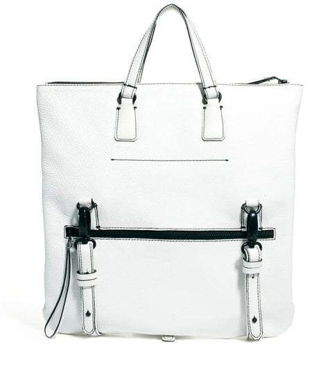 A crisp white finish and cool hardware give this roomy ASOS Premium Leather Tote Bag ($144) a polished update.