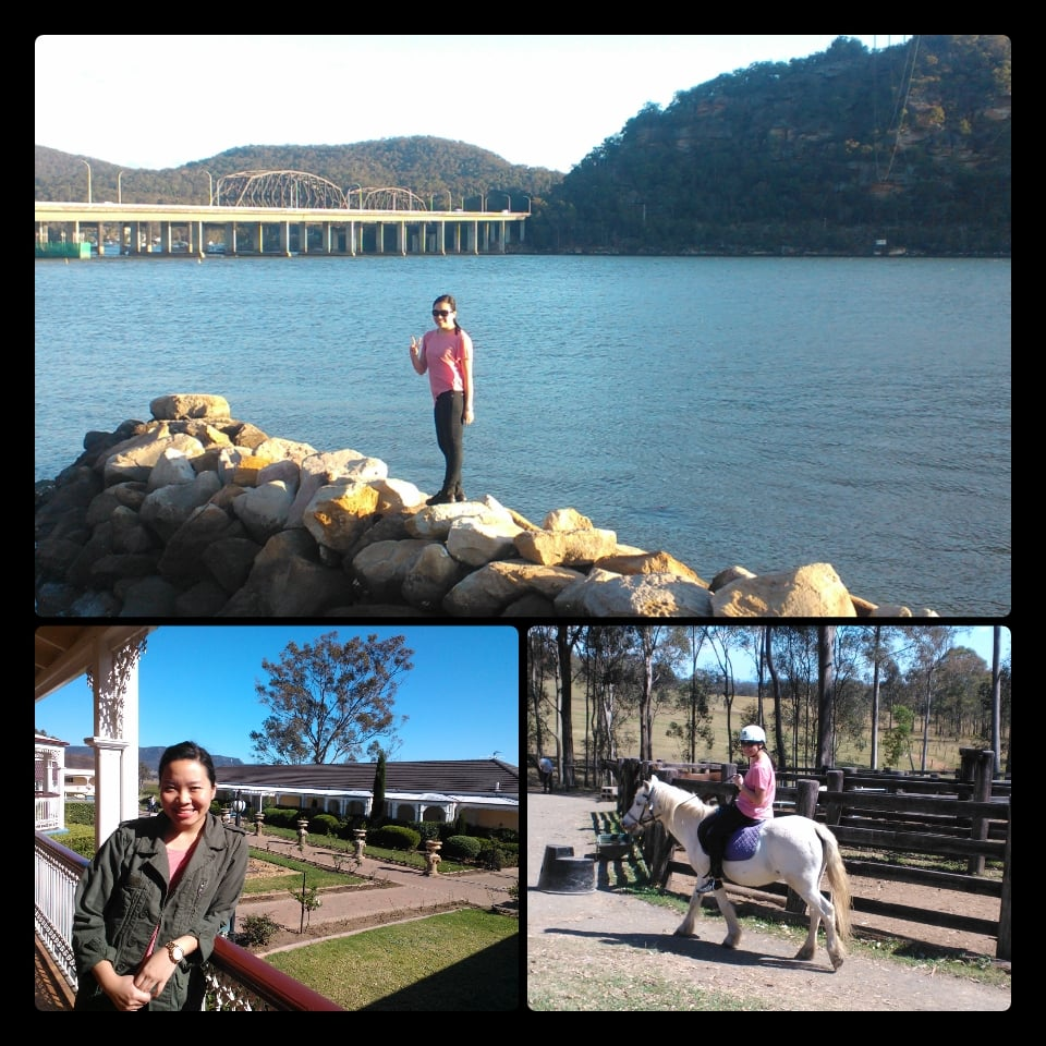 A snapshot of a weekend in the Hunter Valley: a quick rest stop in Mooney Mooney, a night at The Sebel Kirkton Park, and an hour of horse riding! The photo was created with the PhotoGrid app — I'm obsessed.