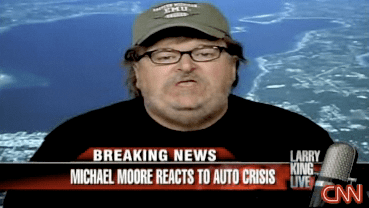 Briefing Book! Michael Moore on the Big Three Bailout