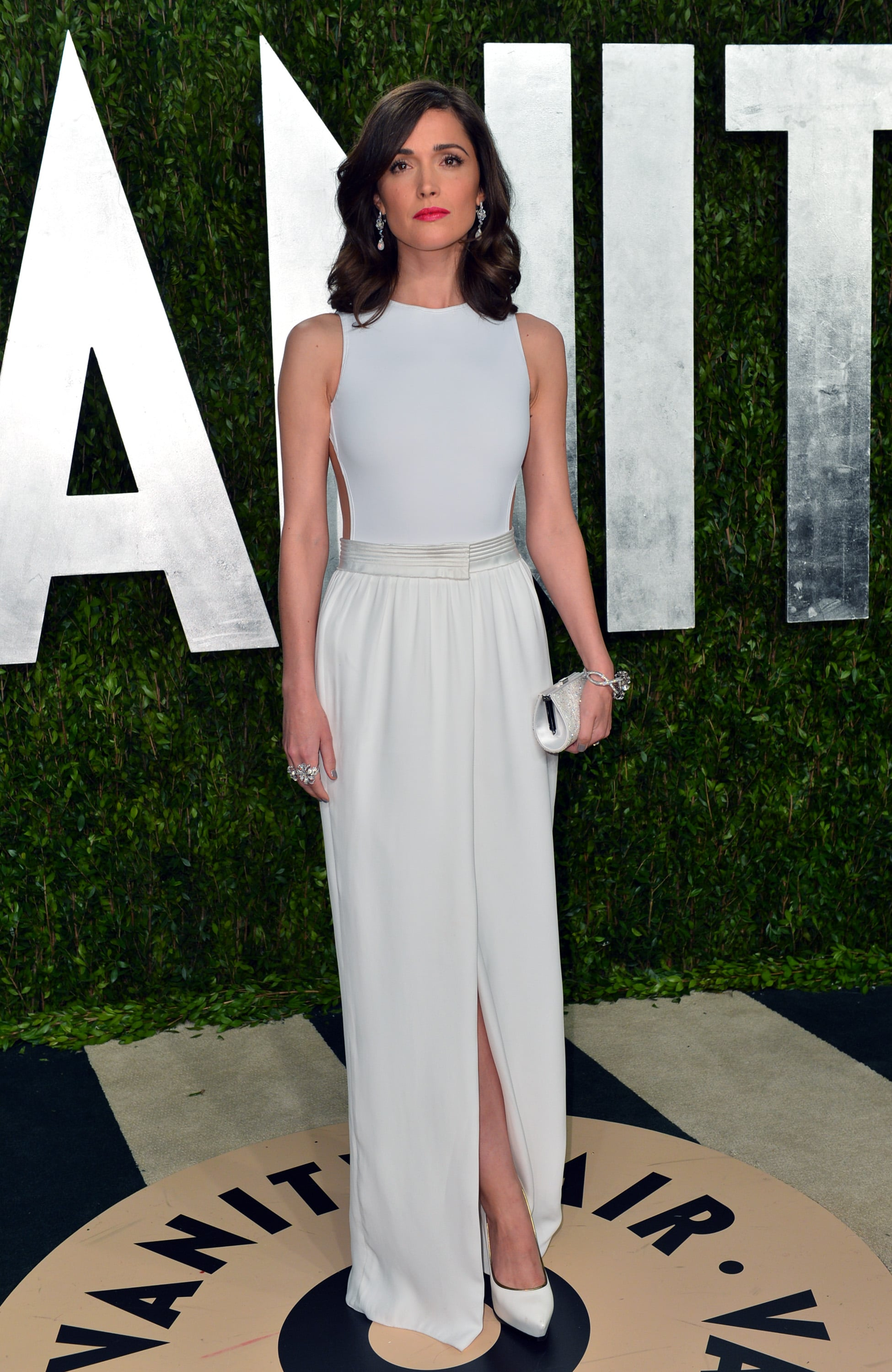 Rose Byrne arrived at the Vanity Fair Oscar party on Sunday night.