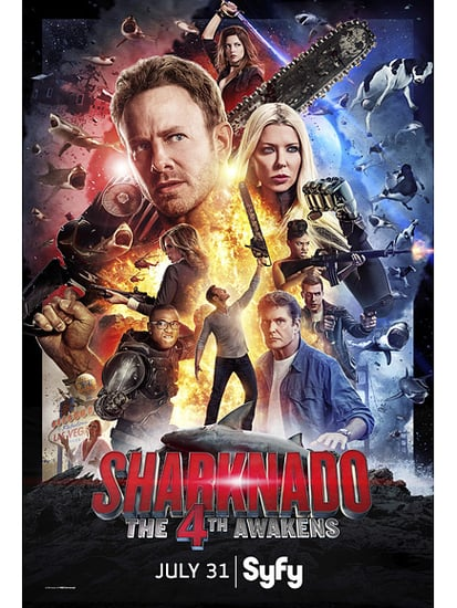 Sharknado: The 4th Awakens an Appropriately (and Awesomely) Star Wars-esque Poster