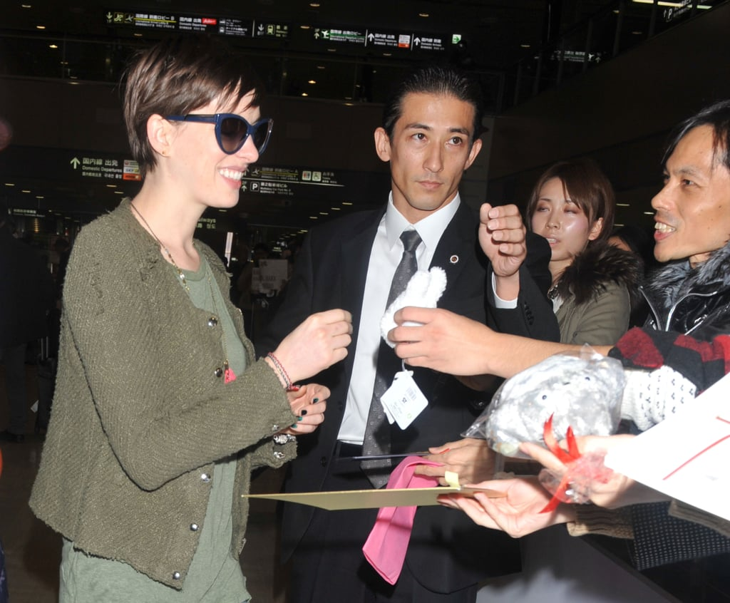 Anne Hathaway flashed a smile.