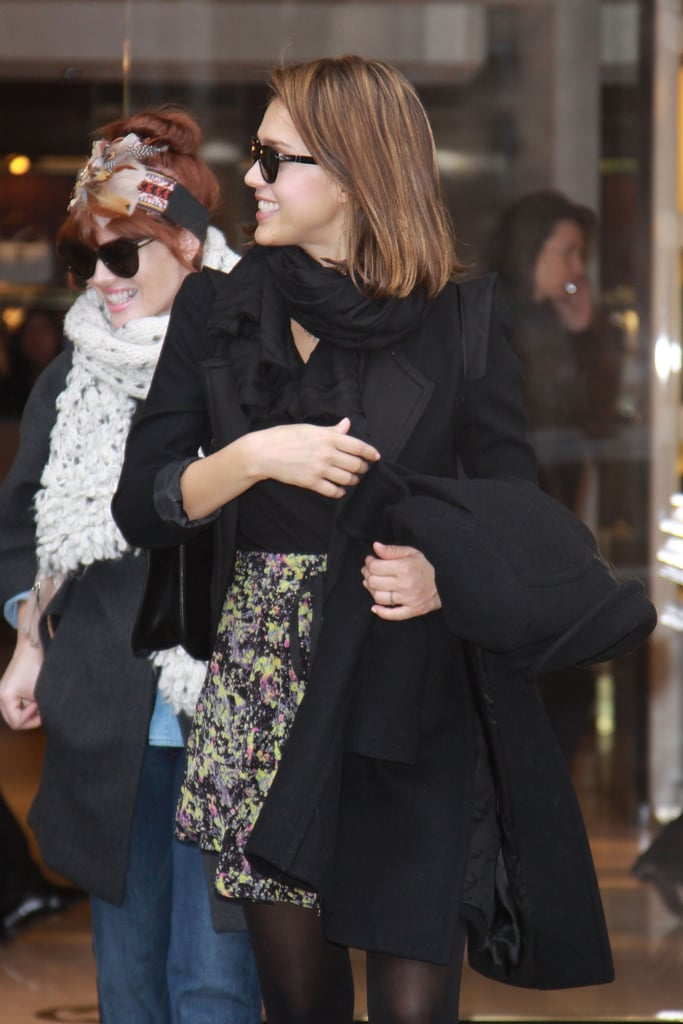 Diane Kruger and Jessica Alba Link Up For a Stylish French Dinner