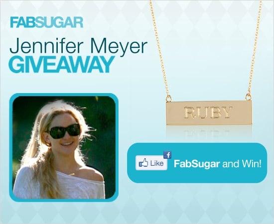 Jennifer Meyer Jewelry Giveaway: Nameplate Necklace