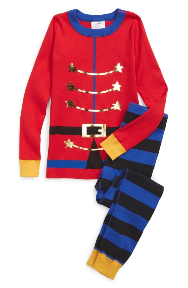 Hanna Andersson 'Drummer Boy' Two-Piece Fitted Pajamas