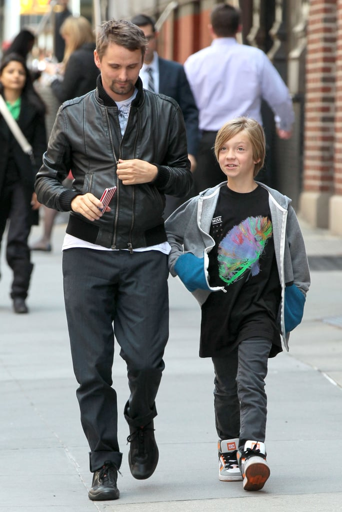Matthew Bellamy had an outing with Ryder Robinson in NYC.