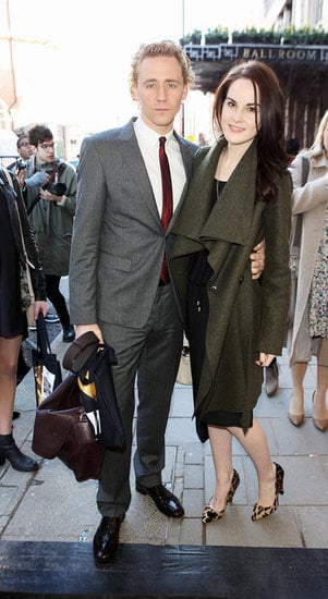 Tom Hiddleston and Michelle Dockery at Mulberry